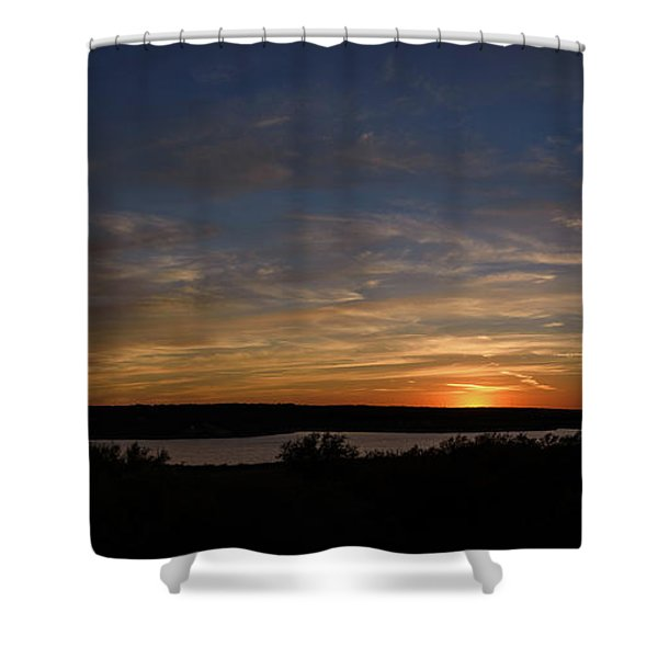 Sunset On Lake Georgetown Shower Curtain