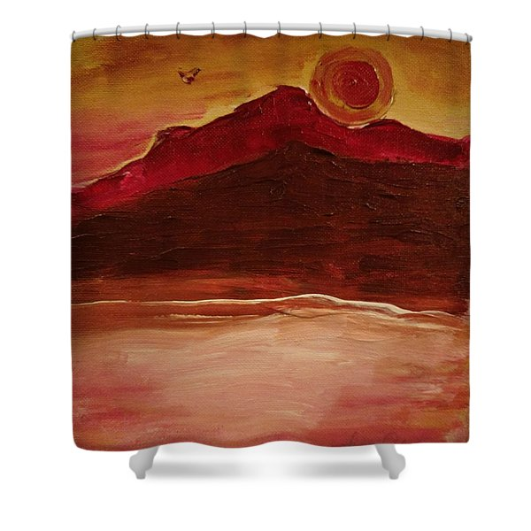 Sunset On Red Mountain Shower Curtain