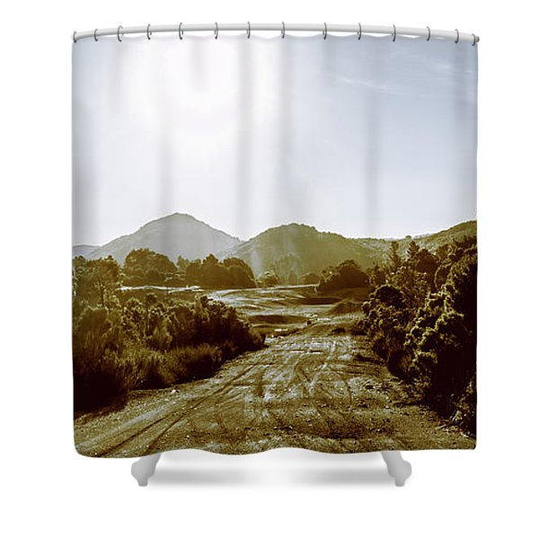 Sunset On Rural Zeehan Shower Curtain