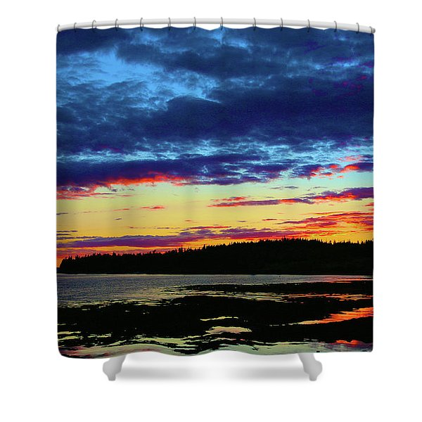 Sunset On Seal Cove Shower Curtain