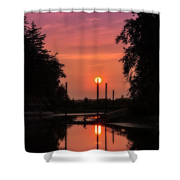 Sunset On The Bay Shower Curtain