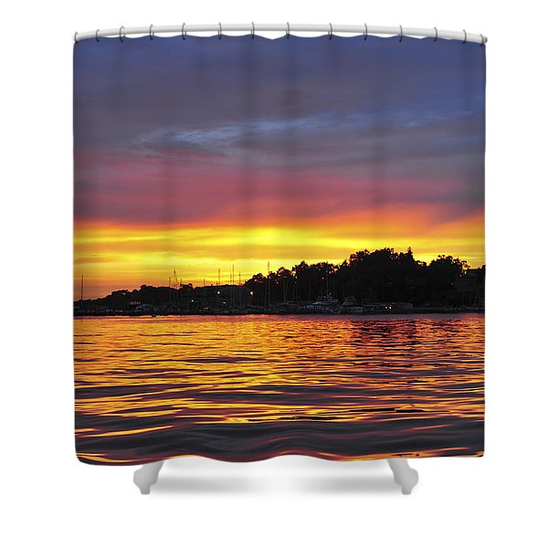 Sunset On The Bay Island Heights Nj Shower Curtain