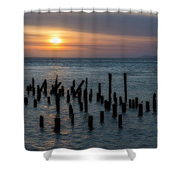 Sunset On The Empire Shower Curtain