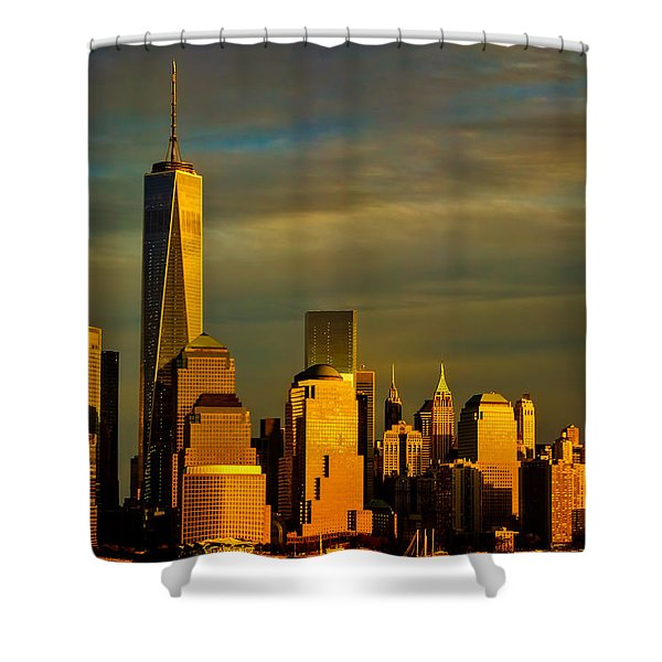 Sunset On The Financial District Shower Curtain