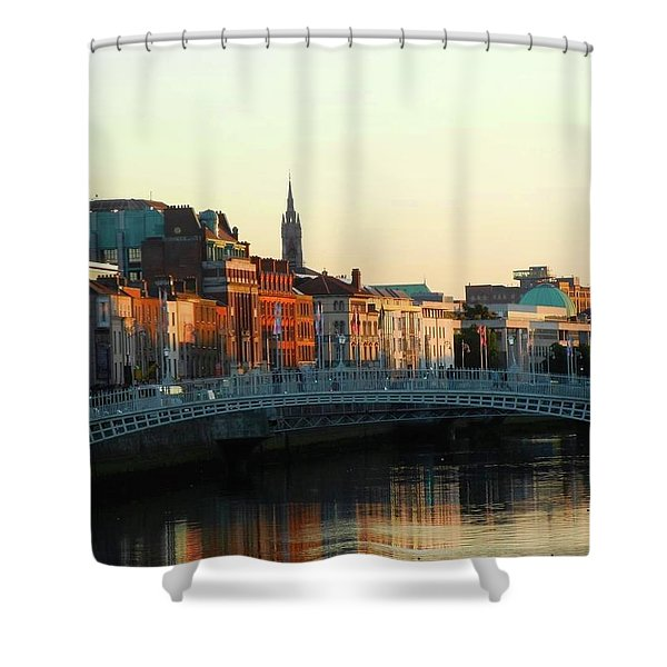 Sunset On The Ha'penny Shower Curtain