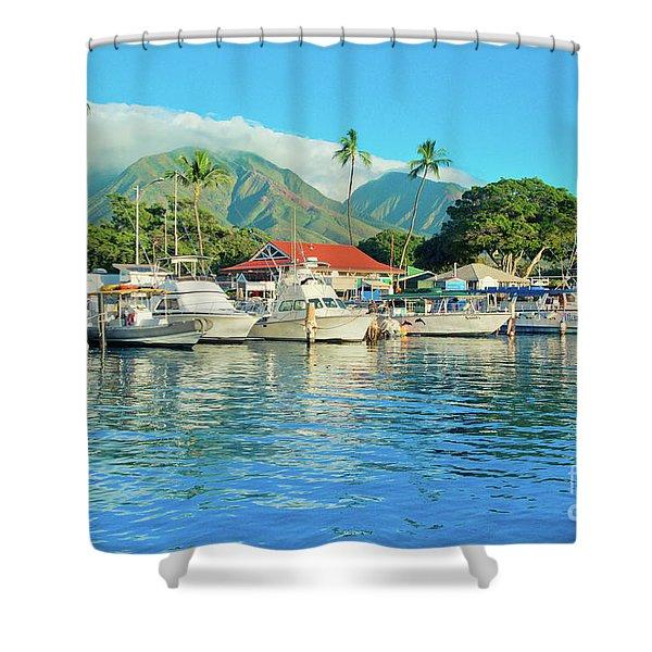 Sunset On The Marina Lahaina Harbour Maui Hawaii Shower Curtain