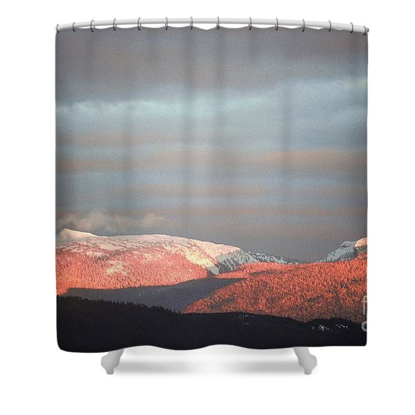Sunset On The Monashees Shower Curtain
