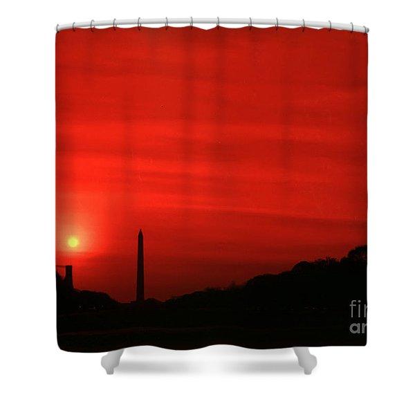 Sunset On The National Mall Washington Dc Shower Curtain