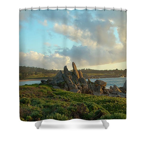 Sunset On The Pacific Ocean  Shower Curtain