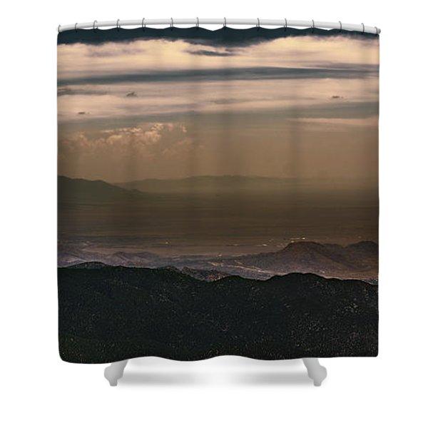 Sunset On The Sandias Shower Curtain