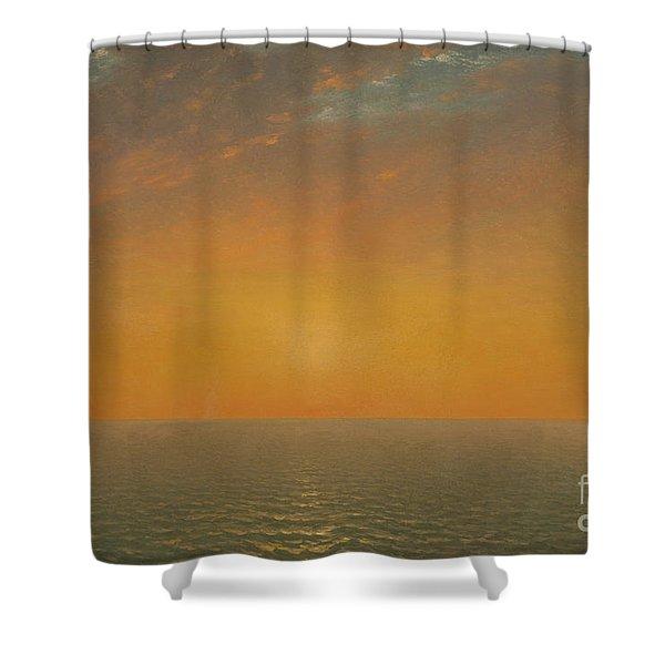 Sunset On The Sea, 1872 Shower Curtain