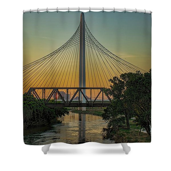 Sunset On The Trinity Shower Curtain