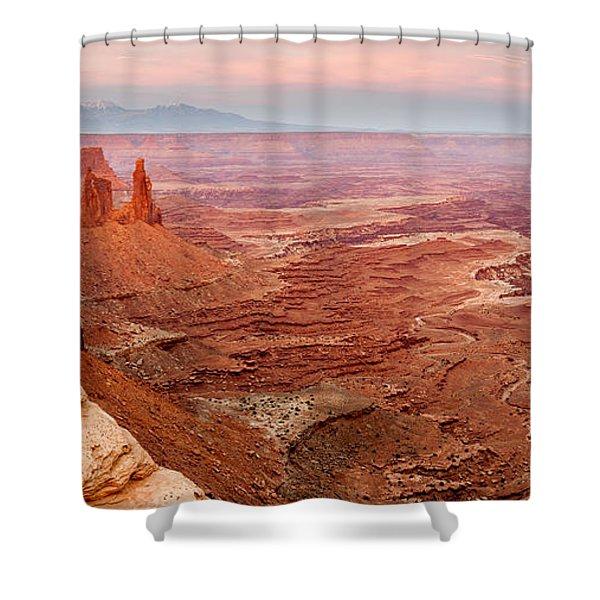 Sunset On The Washerwoman Shower Curtain