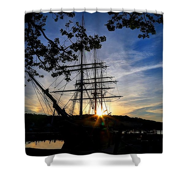 Sunset On The Whalers Shower Curtain