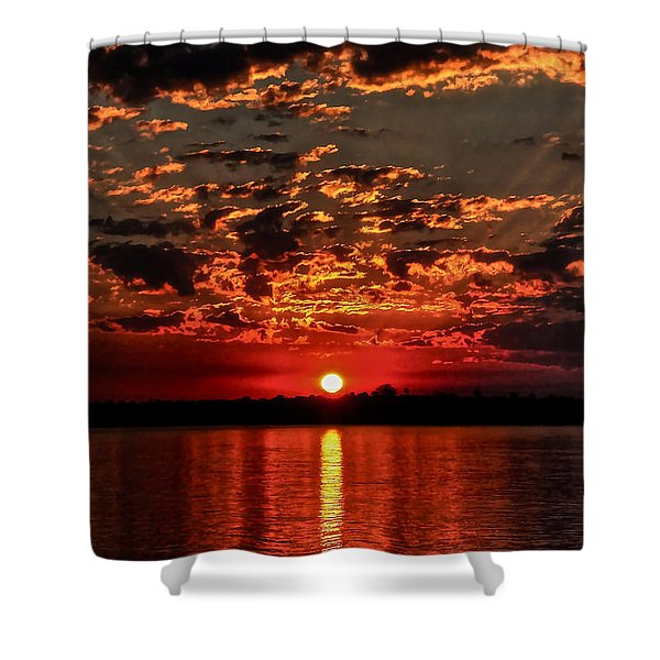 Sunset On The Zambezi Shower Curtain