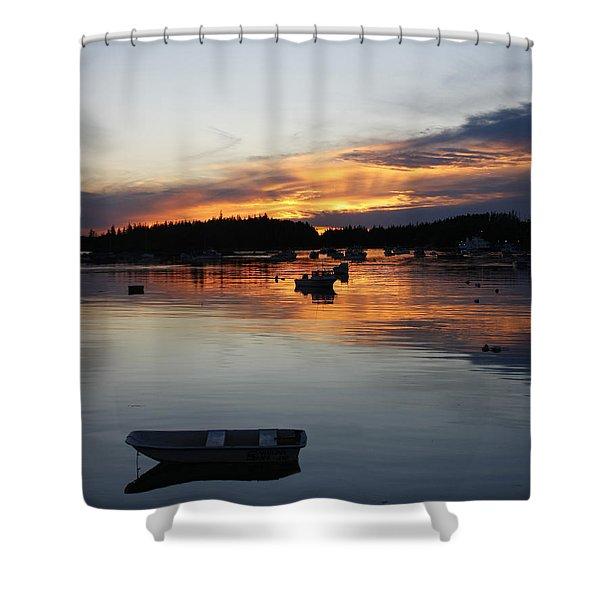 Sunset On Vinalhaven Maine Shower Curtain