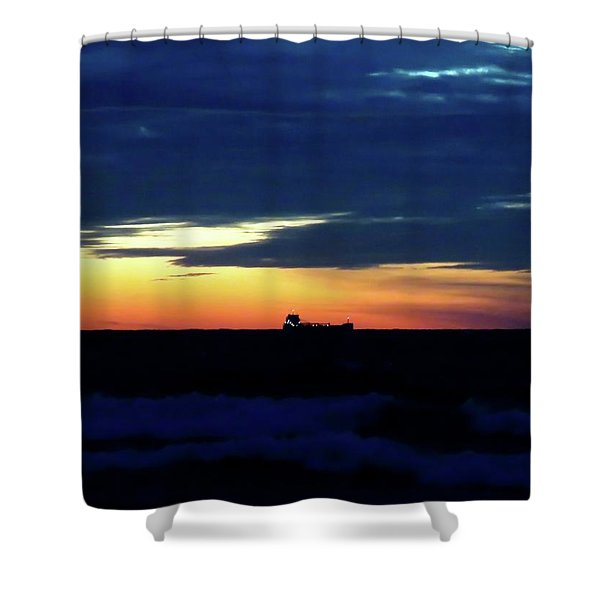 Sunset On Winter Solstice Eve Shower Curtain