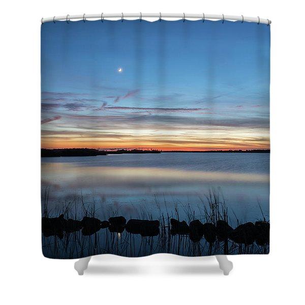 Sunset Over Back Bay Shower Curtain