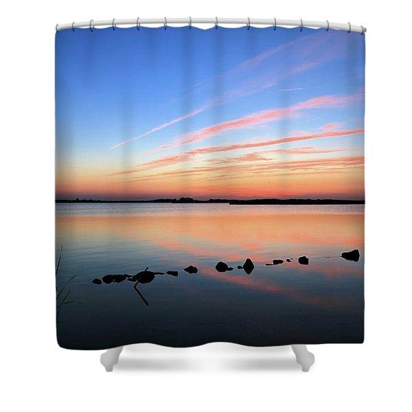 Sunset Over Back Bay National Wildlife Refuge Shower Curtain
