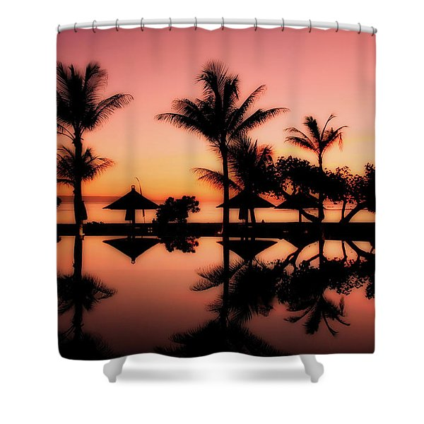 Sunset Over Bali Shower Curtain