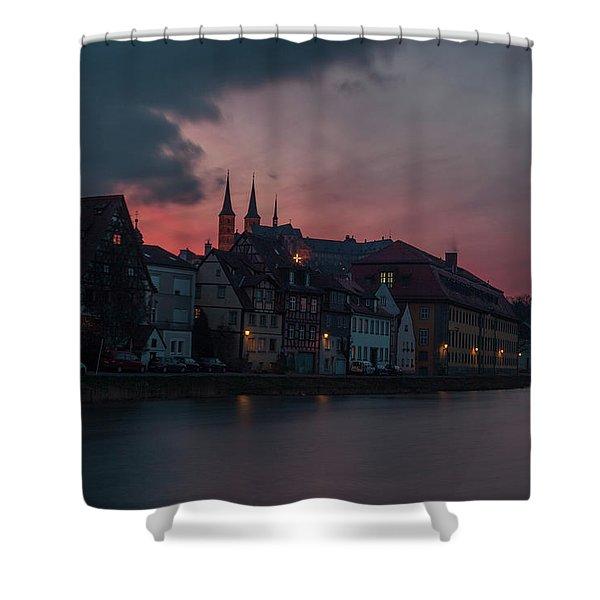 Sunset Over Bamberg Shower Curtain