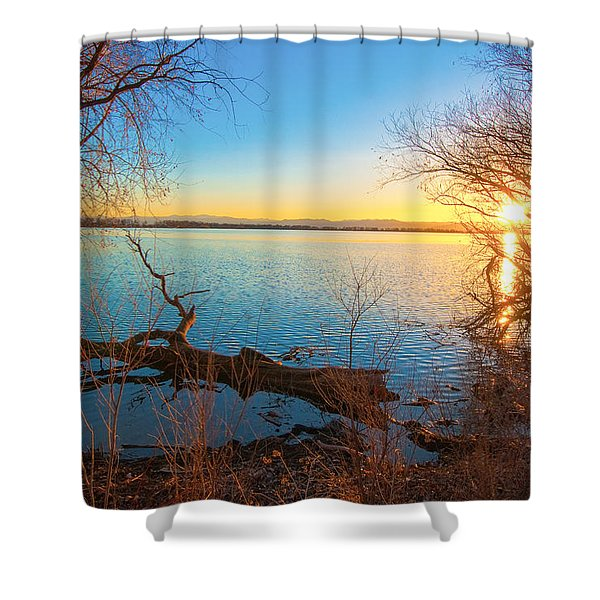 Sunset Over Barr Lake Shower Curtain