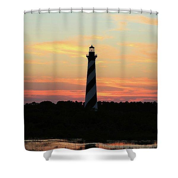 Sunset Over Cape Hatteras Light Shower Curtain