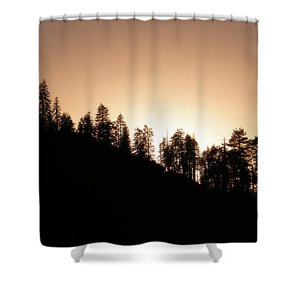 Sunset Over Glacier Point Shower Curtain