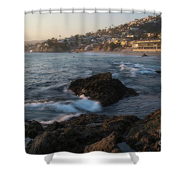 Sunset Over Laguna Beach   Shower Curtain