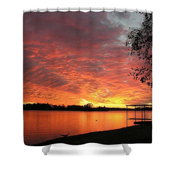 Sunset Over Lake Murray Shower Curtain