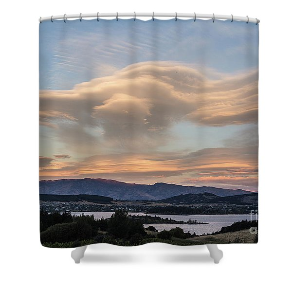 Sunset Over Lake Wanaka Shower Curtain