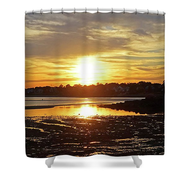 Sunset Over Lynch Park Beverly Ma Shower Curtain