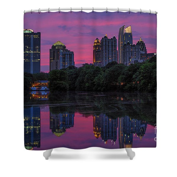 Sunset Over Midtown Shower Curtain