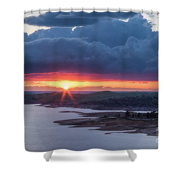 Sunset Over Millerton Lake  Shower Curtain