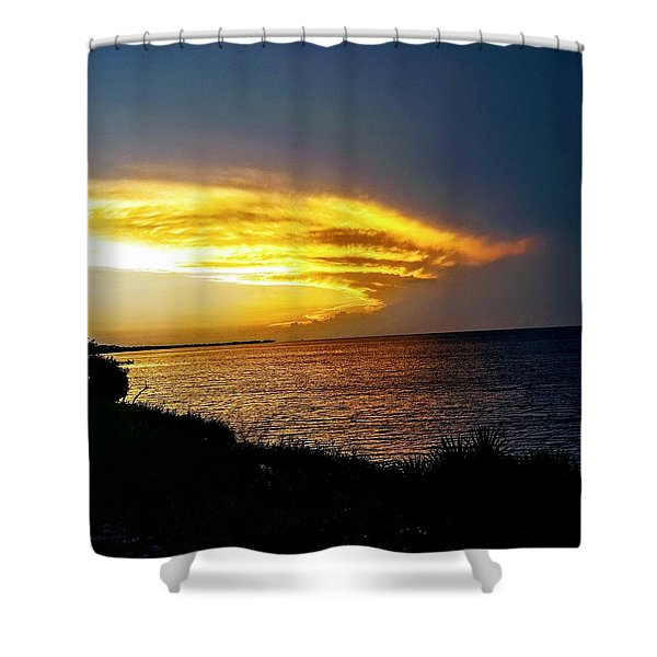 Sunset Over Mobile Bay Shower Curtain