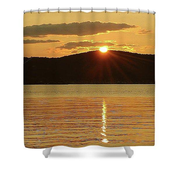 Sunset Over Piermont Shower Curtain