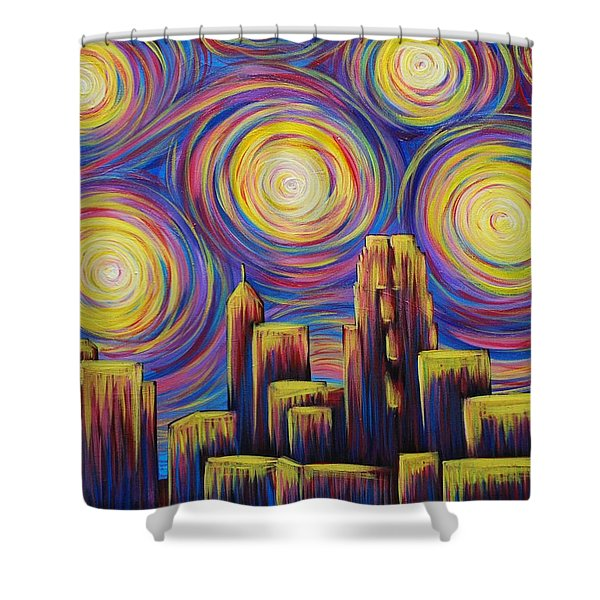 Sunset Over Raleigh Shower Curtain