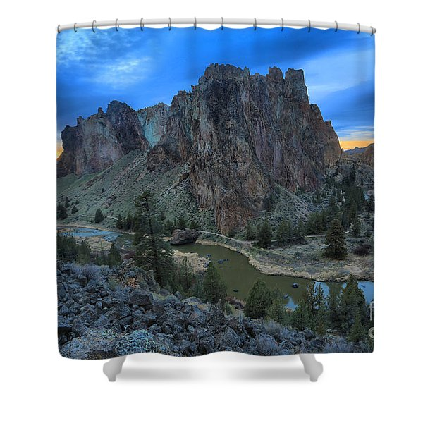 Sunset Over Smith Rock Shower Curtain