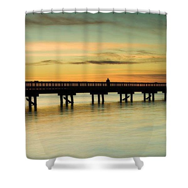 Sunset Over The Barnegat Bay Shower Curtain