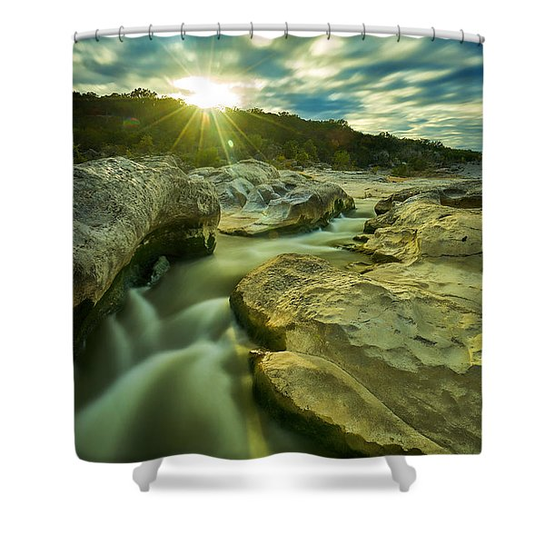 Sunset Over The Cascade Shower Curtain