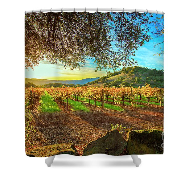 Sunset Over Napa  Shower Curtain