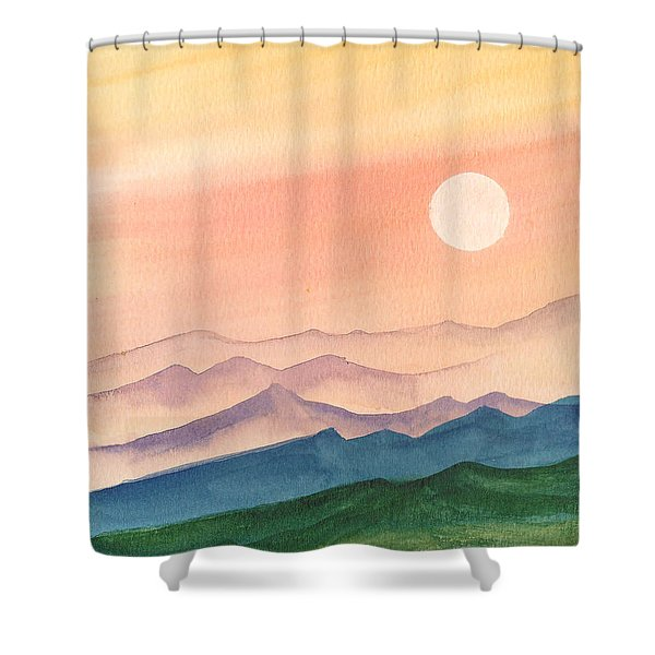 Sunset Over The Hills Shower Curtain