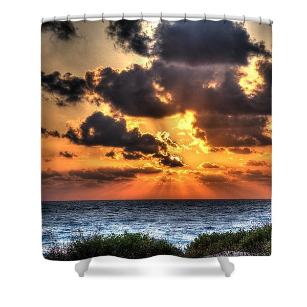 Sunset Over The Mediterranean 2 Shower Curtain