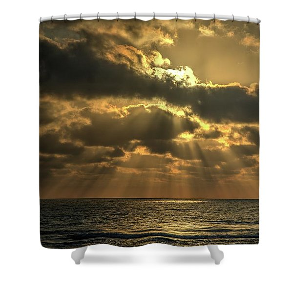 Sunset Over The Mediterranean 5 Shower Curtain
