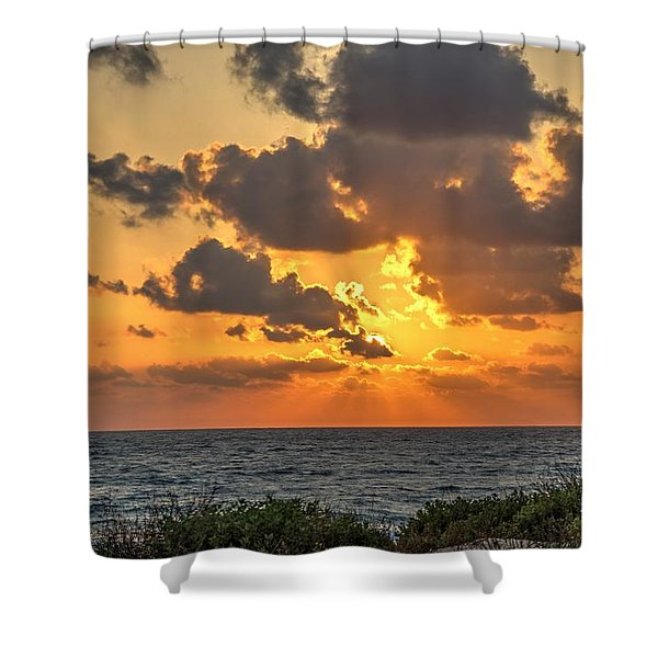 Sunset Over The Mediterranean  Shower Curtain