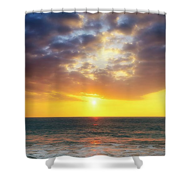 Sunset Panorama Shower Curtain
