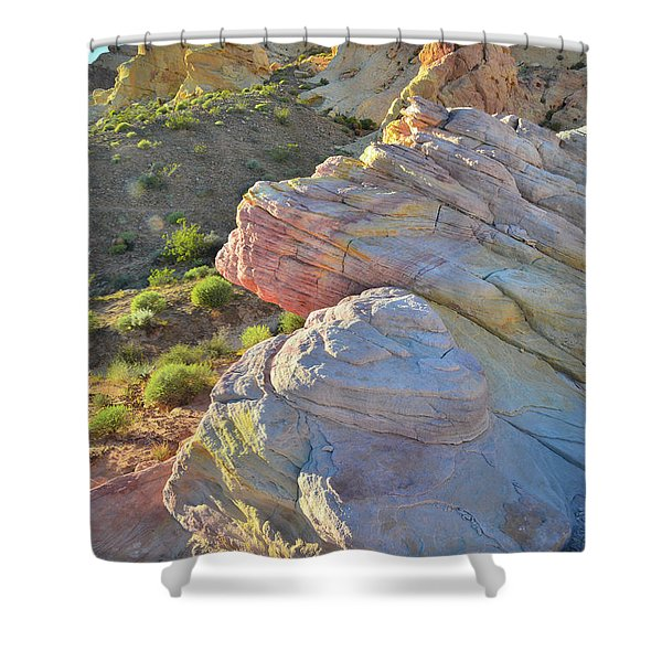 Sunset Pastels In Valley Of Fire Shower Curtain