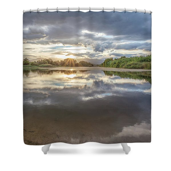 Sunset Reflected Shower Curtain