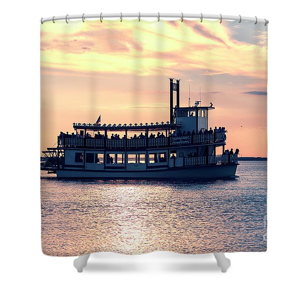 Sunset Ride At Long Beach Island Shower Curtain