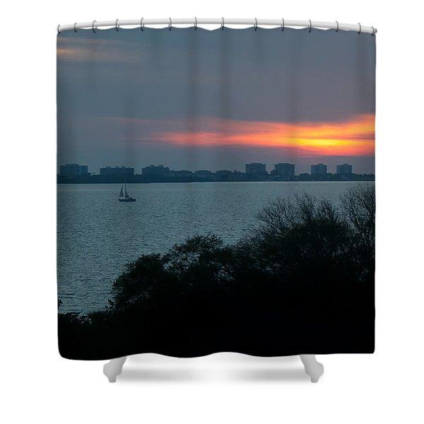 Sunset Sail On Sarasota Bay Shower Curtain